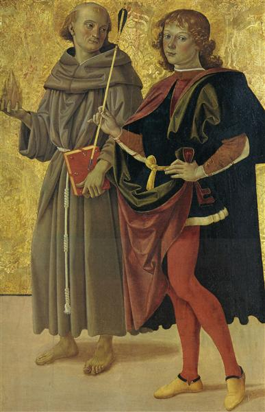 St. Anthony of Padua and St. Sebastian, 1476 - 1478 - Pietro Perugino