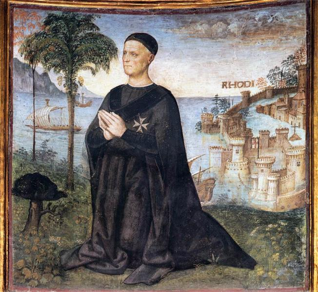 Portrait of the Donor, 1504 - Pinturicchio