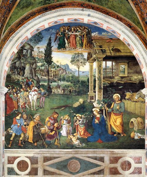 The Adoration of the Shepherds, 1501 - Pinturicchio