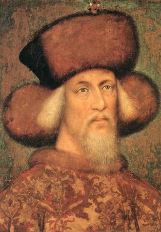 Portrait of Emperor Sigismund of Luxembourg, 1433 - Пизанелло