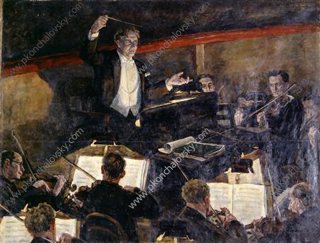Conductor Nikolai Semenovich Golovanov and Orchestra, 1934