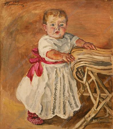 Katya at a chair, 1932
