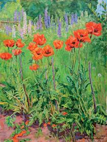 Poppies - Pjotr Petrowitsch Kontschalowski