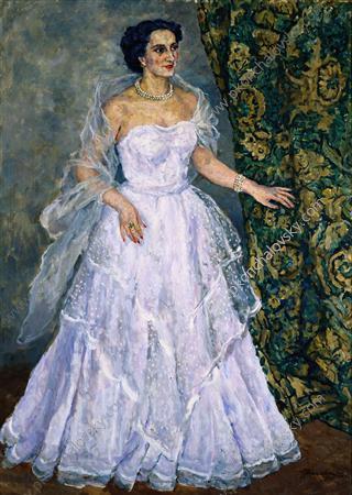 Portrait of the Singer Zara Alexandrovna Dolukhanova, 1955 - Pjotr Petrowitsch Kontschalowski