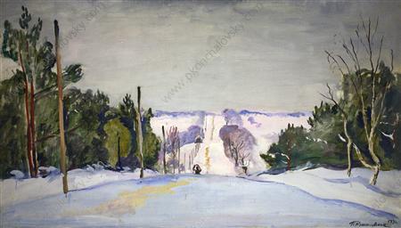 Shosse in winter, 1933