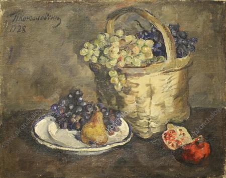 Still Life. Grapes and pomegranates., 1928