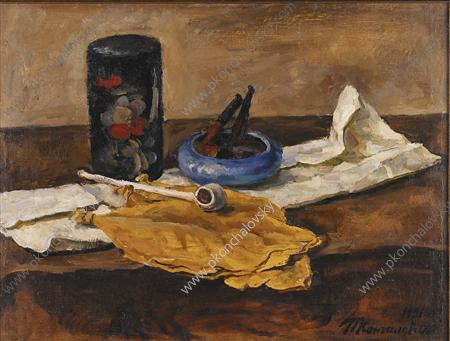 Still Life. Tobacco leaves., 1931