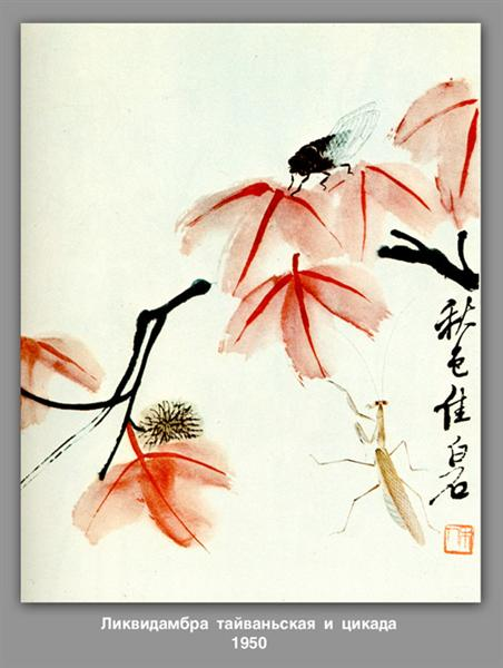 Likvidambra Taiwan and the cicada - Qi Baishi