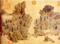 Dwelling in the Floating Jade Mountains - Qian Xuan