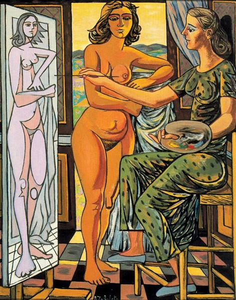 Interior with nude, 1956 - Rafael Zabaleta