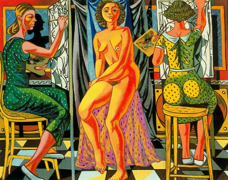 Painters and Model, 1954 - Rafael Zabaleta