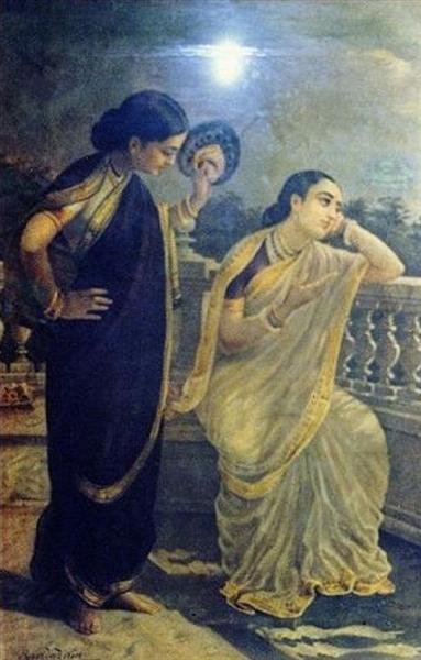 Ladies in the Moonlight - Raya Ravi Varma