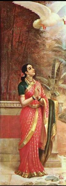 Swan messenger - Raja Ravi Varma