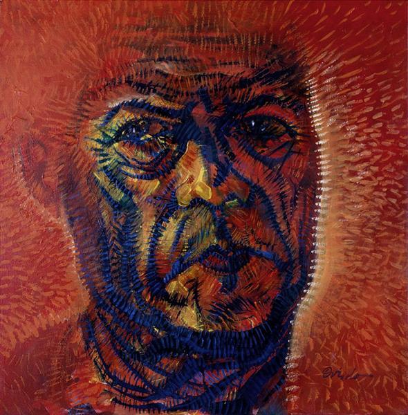 Red Self-Portrait - Oviedo Ramon