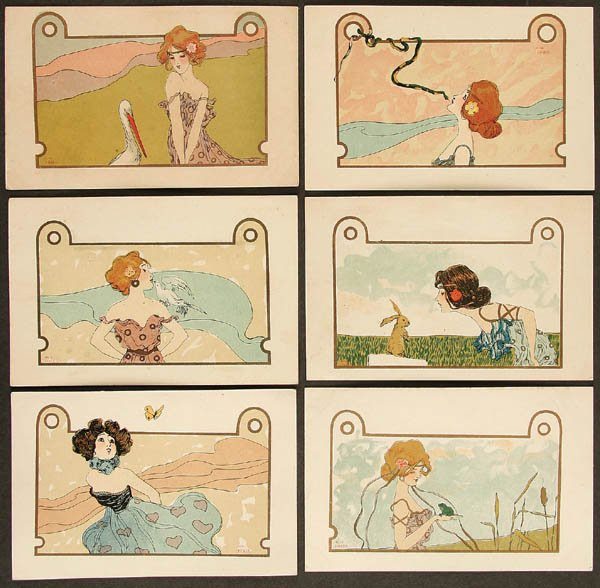 Girls with Animals, 1901 - Raphael Kirchner