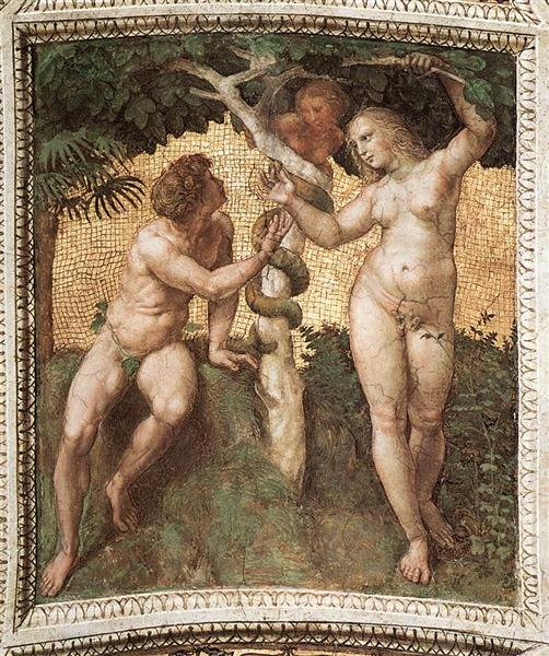 Adam and Eve, from the 'Stanza della Segnatura', c.1508 - 1511 - Raphael