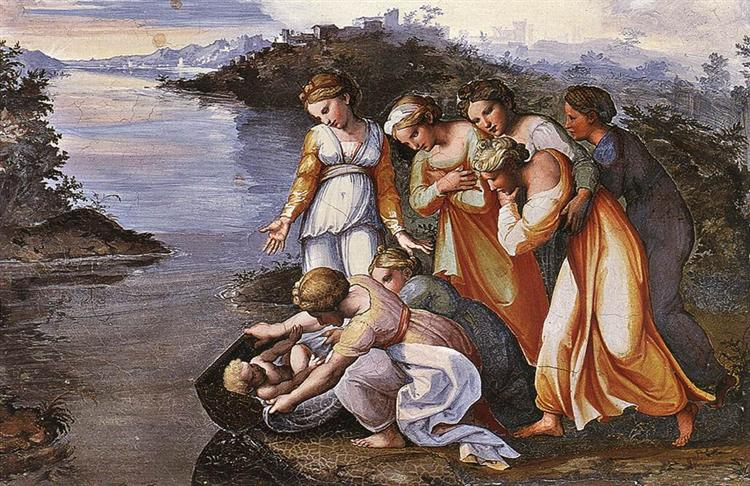 Moses Saved from the Water, 1518 - 1519 - Raphael