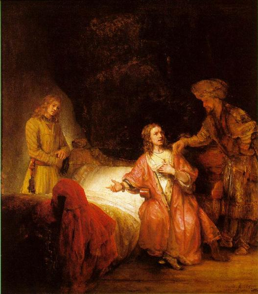 Joseph Accused by Potiphar's Wife, 1655 - Rembrandt