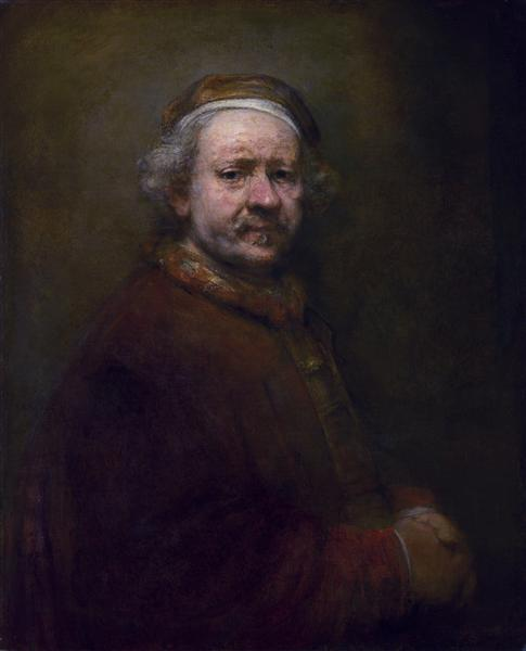 Self-portrait in at the Age of 63, 1669 - Рембрандт