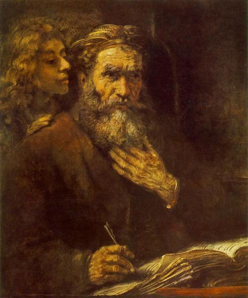 St. Matthew and The Angel, 1661 - Rembrandt