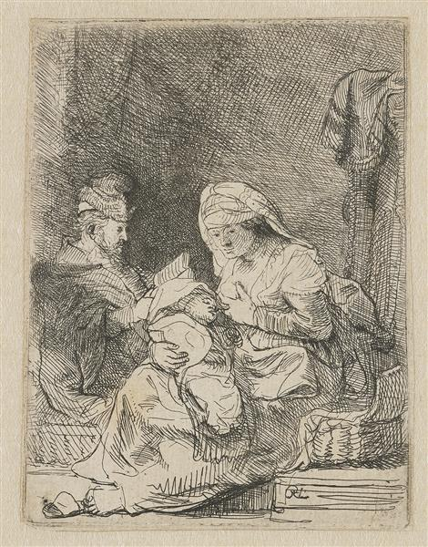 The holy family, 1632 - Rembrandt