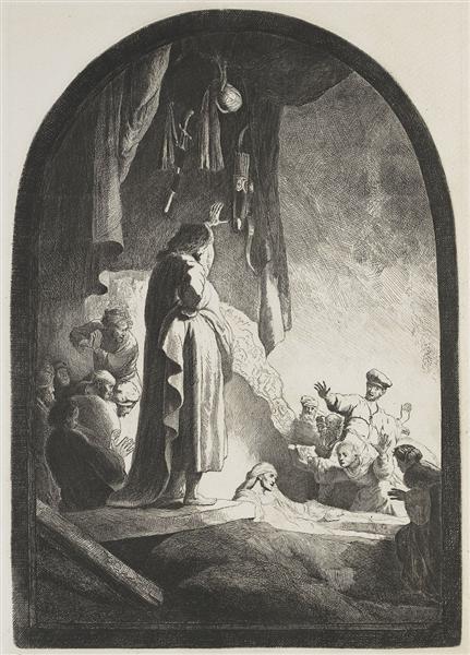 The raising of Lazarus, 1630 - Rembrandt