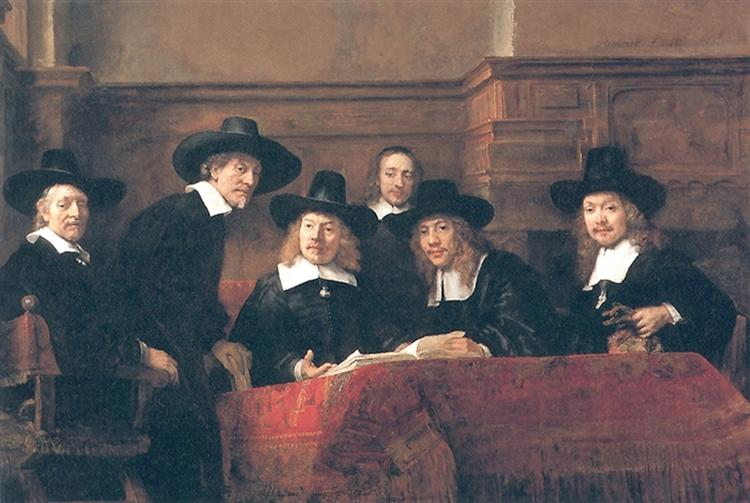 The Syndics, 1662 - Rembrandt