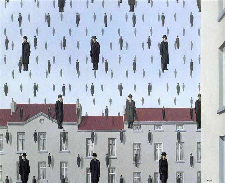 Golconda, 1953 - Rene Magritte