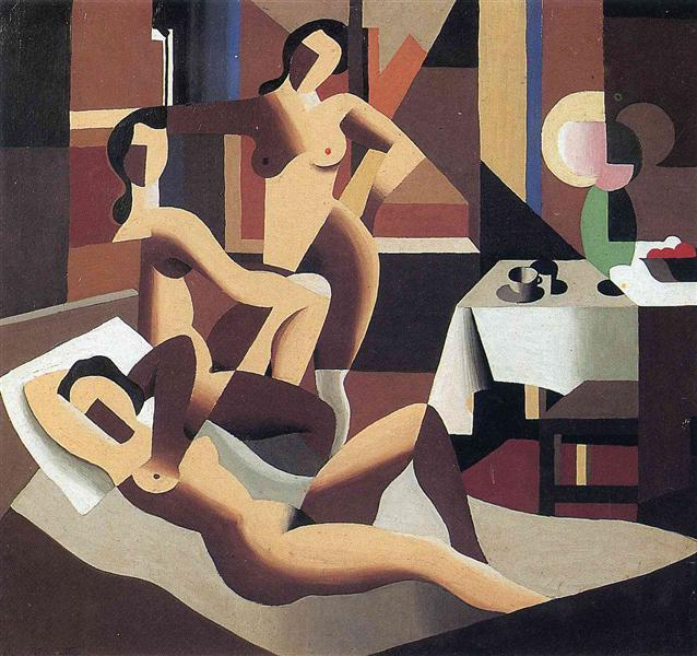 Three nudes in an interior, 1923 - Rene Magritte