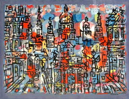 View of the City of Havana, 1970 - Rene Portocarrero