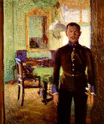 Portrait of a Lieutenant (Alois Gerstl) - Richard Gerstl