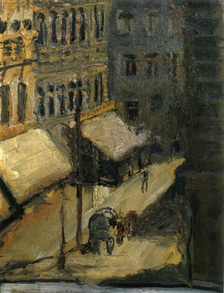 Small street (Nußdorferstraße), 1908 - Richard Gerstl