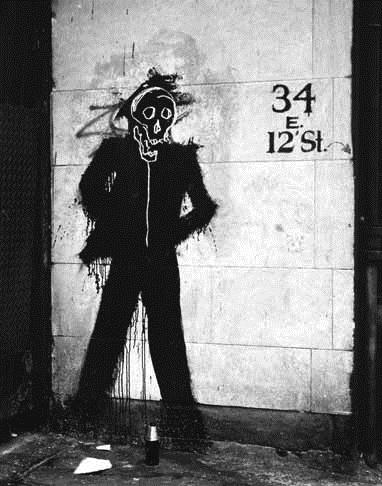 Shadowman (34 E 12th Street), 1982 - Richard Hambleton