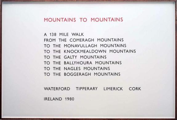 Mountains to Mountains, 1980 - Richard Long