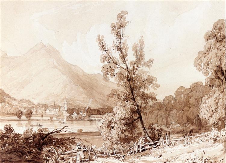 Lake Brientz and Interlaken, 1826 - Richard Parkes Bonington