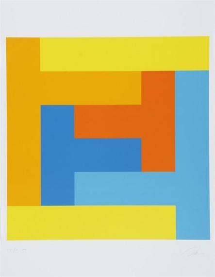 Kunstmappe Schweizerische Mobiliar, 1977 - Richard Paul Lohse