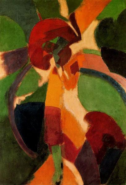Womanwithumbrella.TheParisian, 1913 - Робер Делоне