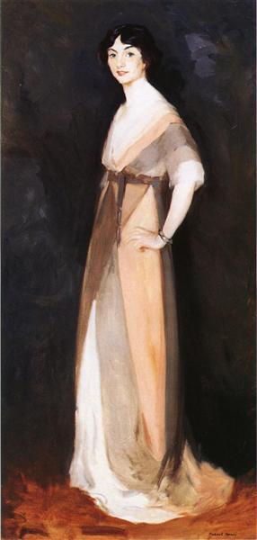 Girl in Rose and Gray. Miss Carmel White, 1911 - Robert Henri