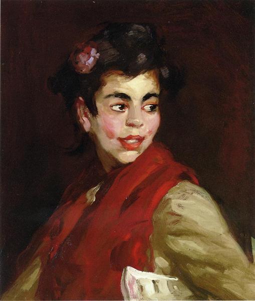 Newsgirl, Madrid, Spain, 1910 - Robert Henri