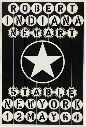 Robert Indiana, New Art, Stable New York, 1964 - Robert Indiana