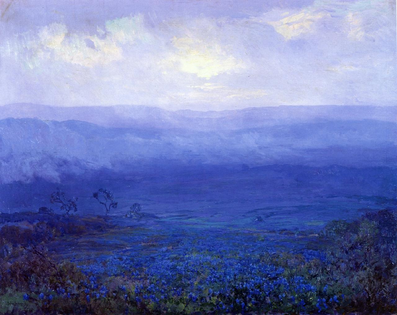Bluebonnets In Texas 1915 Robert Julian Onderdonk