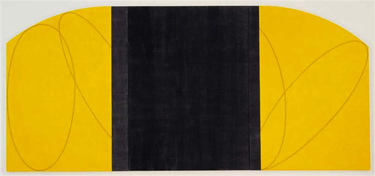 Yellow-Black Zone Painting IV, 1996 - Robert Mangold
