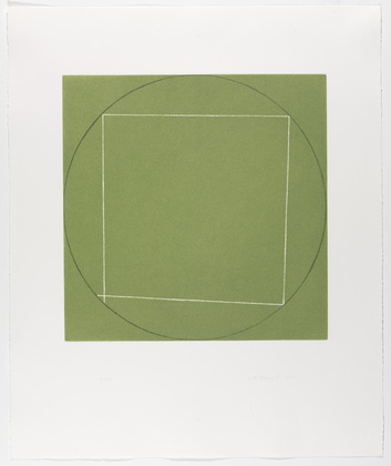 Untitled from Seven Aquatints - Robert Mangold