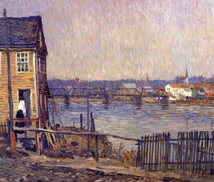A Fisherman's House, 1917 - Robert Spencer