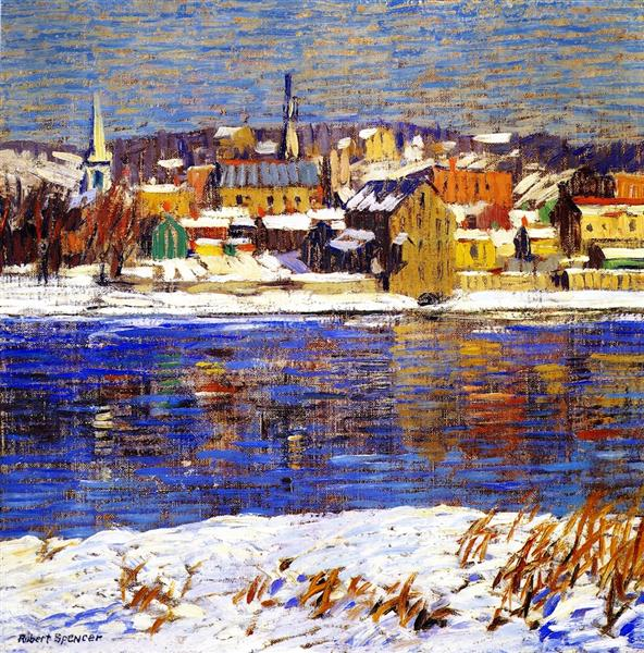 Across the Delaware, 1916 - Robert Spencer