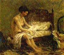 Seated Nude - Robert Spencer