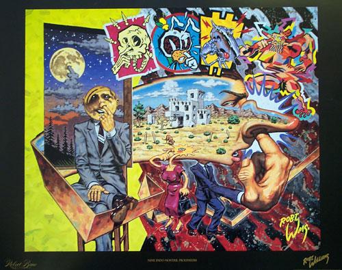 Nine Indo Nostril Pickineers, 1993 - Robert Williams