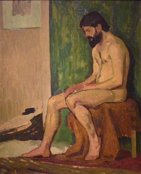 Seated bearded man - Roger de La Fresnaye
