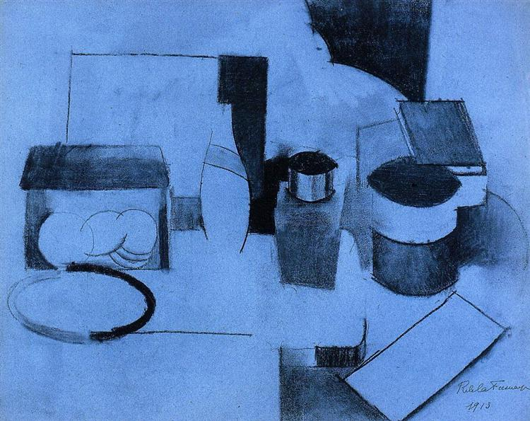 Still Life, Tin of Tea and Pot of Tobacco, 1913 - Роже де ла Френе