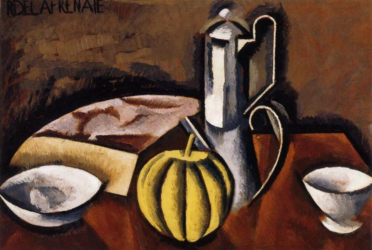 Still Life with Coffee Pot and Melon, c.1911 - Roger de La Fresnaye